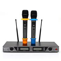 无线麦克风一拖二UHF调频防啸叫KTV专业舞台会议厂家直销无线话筒