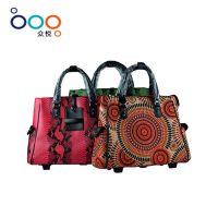 厂家批发 名族风范 多色彩外贸出口拉杆 可手提行李箱包 旅行时尚