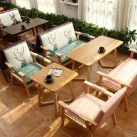 桌椅奶茶店甜品西餐双人咖啡厅休闲简约洽谈组合卡座办公室皮沙发