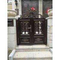 批发博悦-铝艺大门 庭院门 小区护栏 别墅护栏 等铝合金金属制品