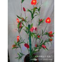 厂家支持混批 大红喜庆用品 仿真花 人造花