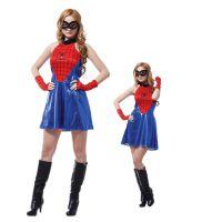 万圣节卡通服动漫超级英雄服装 性感蜘蛛女超人表演服W-0111