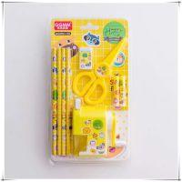 韩版学生文具套装可爱小熊小兔木铅笔手摇削笔机安全剪六一奖品