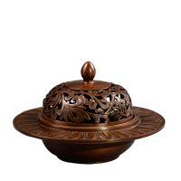 莲瓣纹碗型炉铜香炉佛堂佛具用品摆件转运莲瓣灯铜门窗