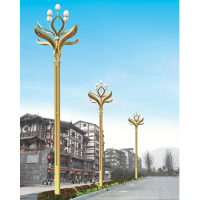 固原广场10米中华灯 武夷山景区特色多火中华灯 科尼星高杆路灯