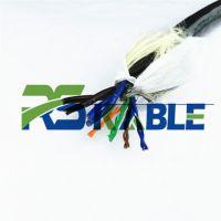 柔胜/耐高温200度铁氟龙电缆CAT5E屏蔽网线加2/4/6芯电源线监控视频线