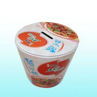 厂家供应储钱系列康师傅方便面铁罐广告促销精品马口铁盒