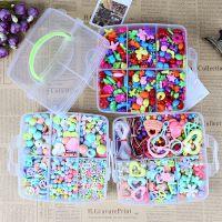 新款亚克力彩色diy儿童串珠盒装手工制作益智力开发玩具礼物 厂家