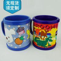 环保PVC软胶3D卡通杯制造商  来图定制动漫儿童软胶刷牙杯杯套