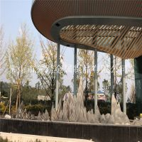 四川成都凤凰山音乐主题广场不锈钢假山雕塑安装实物效果图