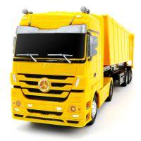 一件代发青艺超大儿童玩具运输卡车2.4G遥控工程车自卸车翻斗车