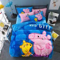 1.2m儿童卡通珊瑚绒三件套1.5米法莱绒法兰绒四件套被套床上用品