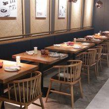 临沧弧形卡座沙发定做,西餐厅圆桌子沙发组合案例