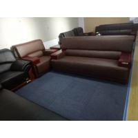 洛阳雷业公司办公沙发茶几商务会客接待真皮简约现代办公室沙发