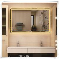 led智能镜子 触摸屏开关浴室镜灯镜 无框防雾镜 壁挂镜卫生间定制