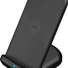 iwalk无线立式充电器双线圈/双风扇散热/智能光感控制/10W快充