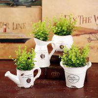 美式植物陶瓷家居装饰品仿真花乡村盆景摆件客厅仿真创意盆栽摆设