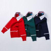 1264H 秋冬新款纯色假衬衣领儿童针织毛衣 男童简单百搭款打底衫