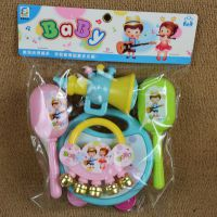 新生儿婴儿宝宝益智早教音乐启蒙玩具 婴幼儿手摇铃组合套装批发