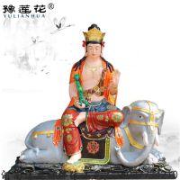 普贤菩萨贴金彩绘 玻璃钢遍吉菩萨佛像 河南省三曼陀罗佛像