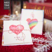 永恒的爱日韩暖心插画纸质贺卡纪念小礼物贺卡带小信封