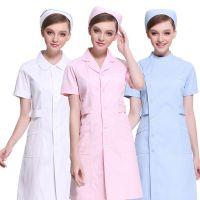 护士服夏季短袖女薄款白大褂长袖粉色纹绣师美容院美容师工作服