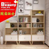 北欧书柜书架儿童小置物架简约现代学生卧室简易自由组合落地