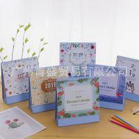 广州青盛2019新款台历森林物语可爱卡通动物学生书桌面计划记事本