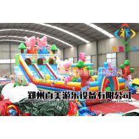 四川广安儿童气垫蹦床,新款小猪佩奇充气气包孩子游玩更加畅快