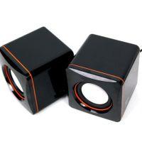 台式机笔记本USB迷你小音箱 方块小音箱 101C便携音箱 MP3小音响