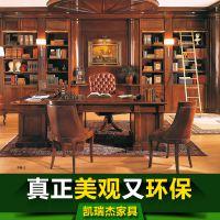 定制开发 欧式实木书柜 美式书橱 实木装饰柜 展示柜 饰品柜定制