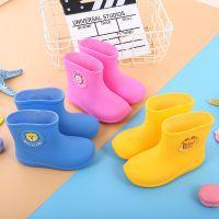 儿童雨鞋男女童宝宝雨靴 卡通防滑加绒可爱公主防水学生小童水鞋