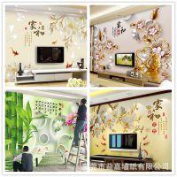 厂家直销加工定制DIY无缝大型壁画3d5d8d凹凸沙发电视背景墙壁纸