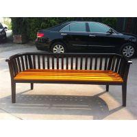 供应实木户外休闲椅公园椅/园林/广场长椅凳子铸铁防腐木实木条椅靠背