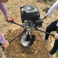 蔬菜大棚建设立柱汽油小型挖坑机 手提式挖坑机