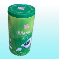 厂家定制 茉莉花茶叶罐铁罐方形马口铁盒 圆形柑普茶包装盒