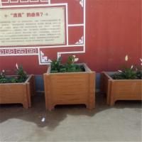 热销章丘景观水泥仿木花箱 街道优质仿木花箱花桶组合