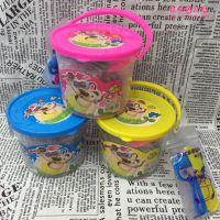 韩版创意桶装儿童彩泥粘土模具创意diy手工玩具水果切切乐橡皮泥