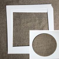 正方型相框卡纸照片墙用内衬卡纸33/38宣纸画画框装裱卡纸片白色