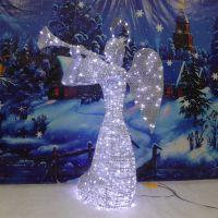 LED圣诞天使 会所酒店花园LED天使灯饰 商场广场大厅圣诞天使美陈
