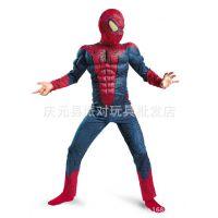 COS表演服肌肉连体蜘蛛侠高档英雄儿童角色演出服