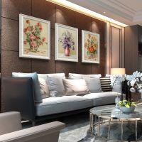 客厅装饰画沙发背景墙三联画 欧式卧室玄关餐厅挂画 简欧墙画壁画