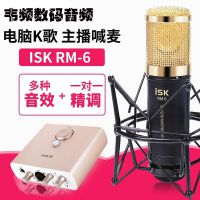 ISK RM-6电容麦克风电脑yy主播专业K歌录音手机唱吧直播声卡套装