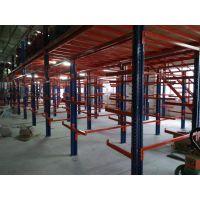 角钢立柱阁楼平台 连层整体仓储货架 仓储中心货架