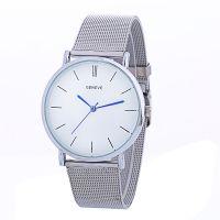 外贸爆款 简约时尚男表 新款网带女士手表 合金日内瓦石英手表