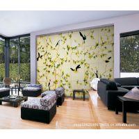 热销推荐 田园风格花鸟图背景墙 立体背景墙 客厅瓷砖 彩雕厂家
