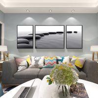 沙发背景墙床头画地中海山水挂画地中海餐厅墙画壁画客厅装饰画