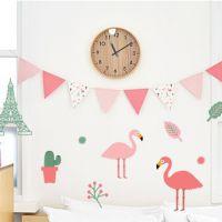 小马百货批发 新款卡通粉红鸟 碎花 小松鼠三角纸质彩旗 节日装饰