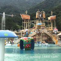 大型主题水寨系列水屋滑梯|加勒比海盗|水上乐园设备厂家热销