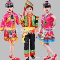 新款儿童少数民族表演服 苗族舞蹈服 幼儿壮族彝族演出服装